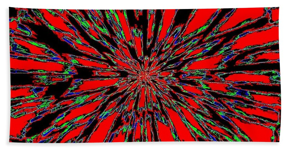 Abstract Bath Towel featuring the digital art Harmony 37 by Will Borden