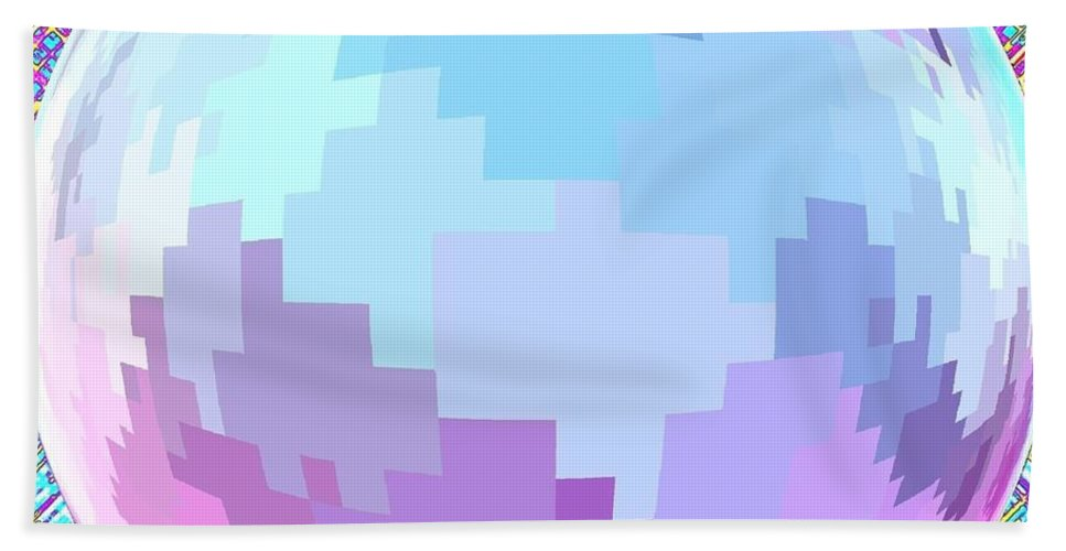 Abstract Bath Towel featuring the digital art Harmony 4 by Will Borden