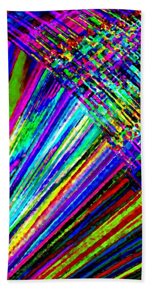 Abstract Hand Towel featuring the digital art Harmony 40 by Will Borden