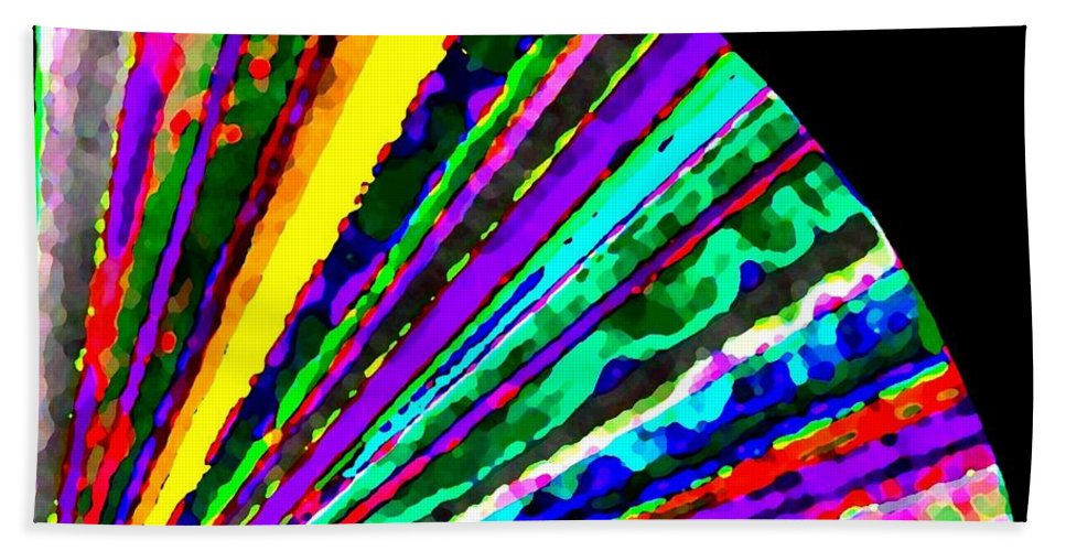 Abstract Bath Towel featuring the digital art Harmony 7 by Will Borden
