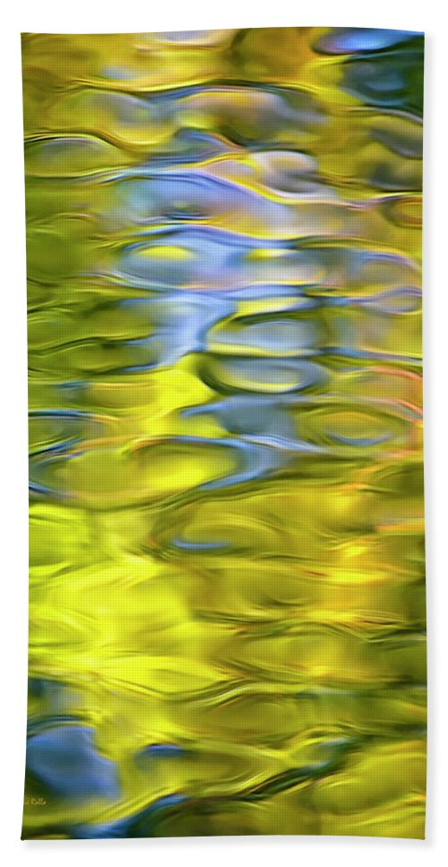 Abstract Water Hand Towel featuring the photograph Harvest Gold Mosaic by Christina Rollo