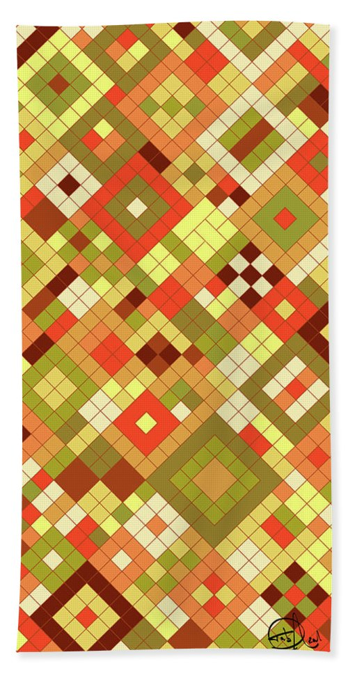 Sixties Hand Towel featuring the digital art Harvest Gold by Tab O'Neal