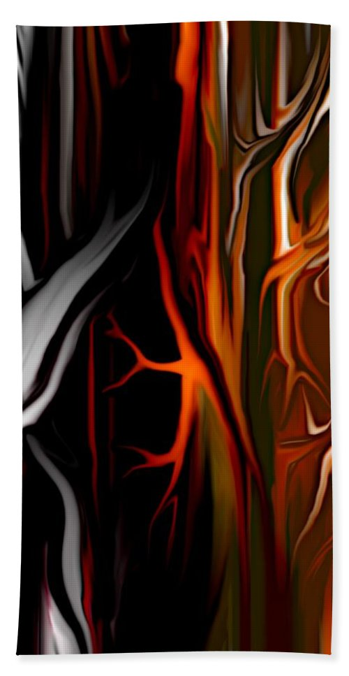 Abstract Digital Painting Bath Sheet featuring the digital art Haunted by David Lane