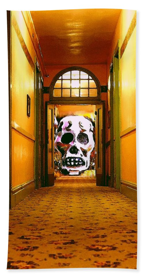 Haunted Bath Towel featuring the photograph Haunted Hallway by Nelson Strong