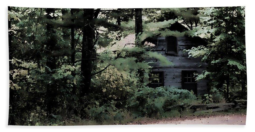 Lauren Radke Bath Sheet featuring the photograph Haunted by Lauren Radke