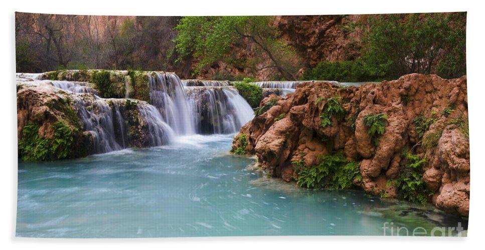 Reflection Hand Towel featuring the photograph Havasu Creek Grand Canyon 15 by Bob Christopher