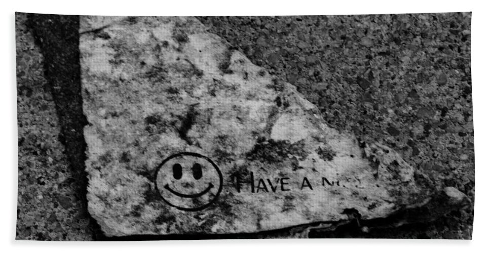 Debris Bath Towel featuring the photograph Have A Nice Day by Angus Hooper Iii