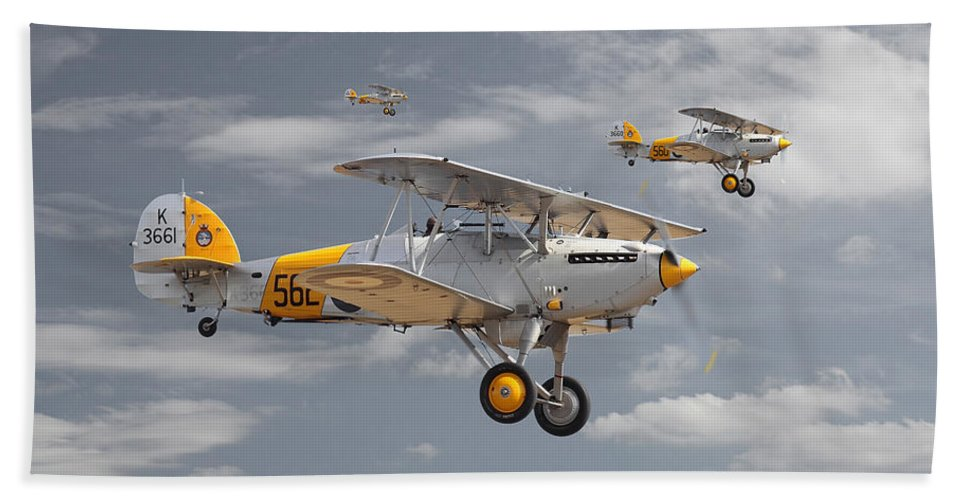 Aircraft Hand Towel featuring the digital art Hawker Nimrod by Pat Speirs