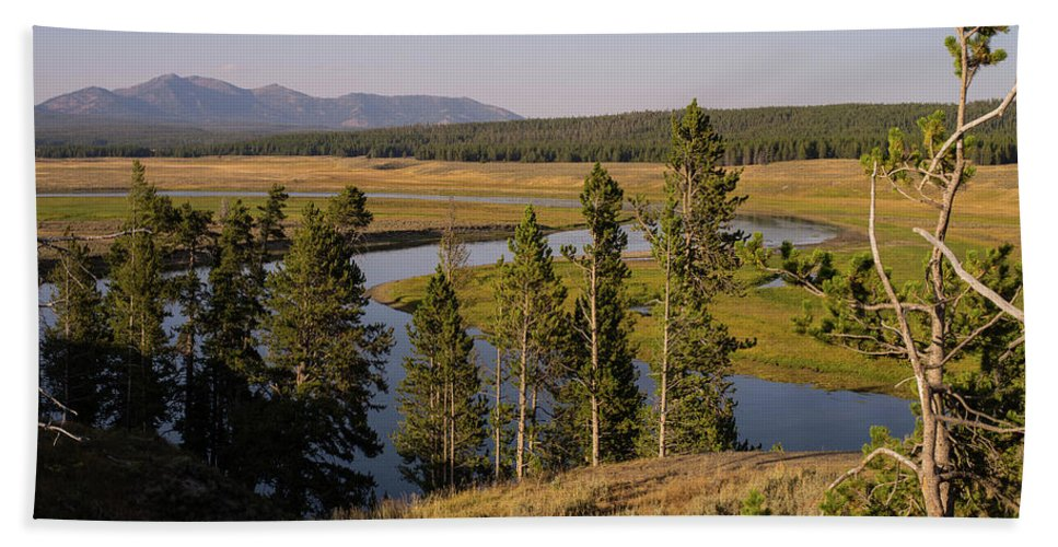 Wyoming Hand Towel featuring the photograph Hayden Valley by Tracy Knauer