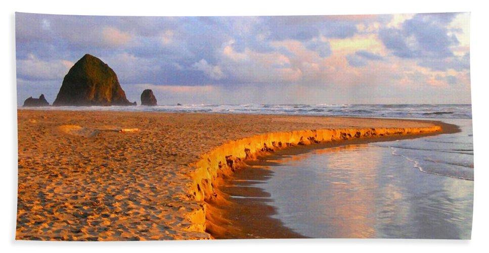 Haystack Heaven Hand Towel featuring the digital art Haystack Heaven by Will Borden