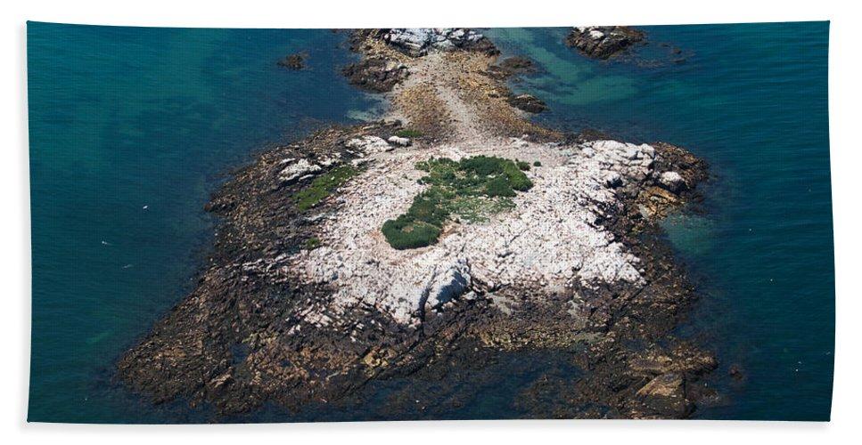Island Bath Sheet featuring the photograph Hazard To Navigation by Joshua House
