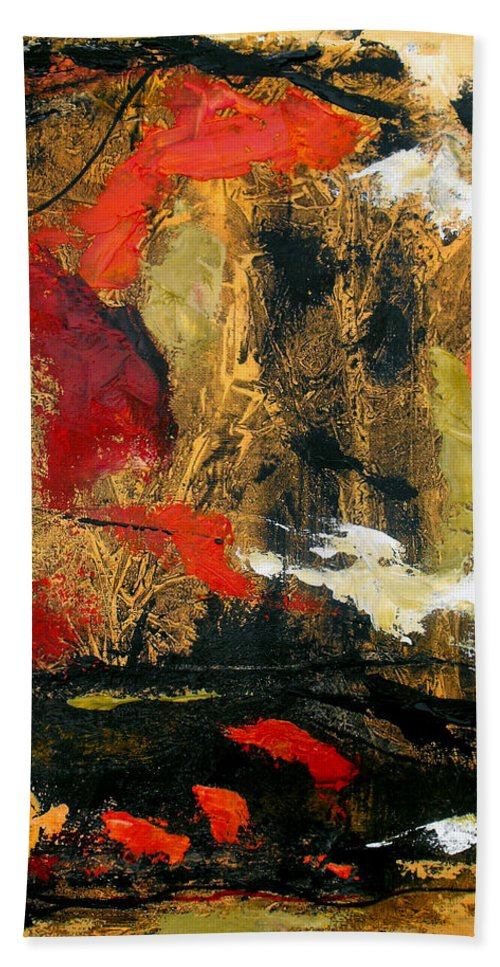 Bath Sheet featuring the painting He Reigns Supreme Forever II by Ruth Palmer