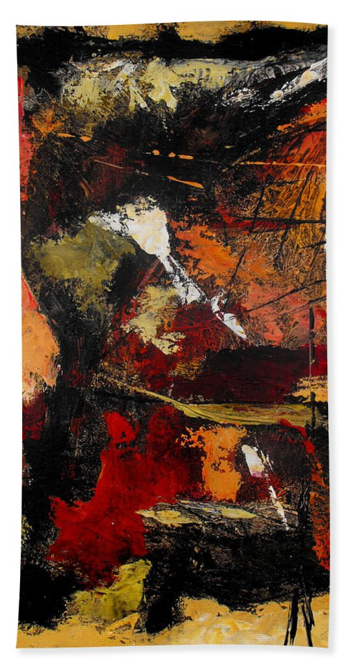 Abstract Bath Sheet featuring the painting He Reigns Supreme Forever by Ruth Palmer