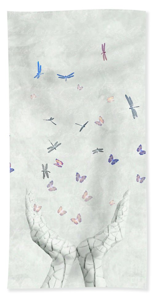 Surreal Hand Towel featuring the digital art Heal by Jacky Gerritsen