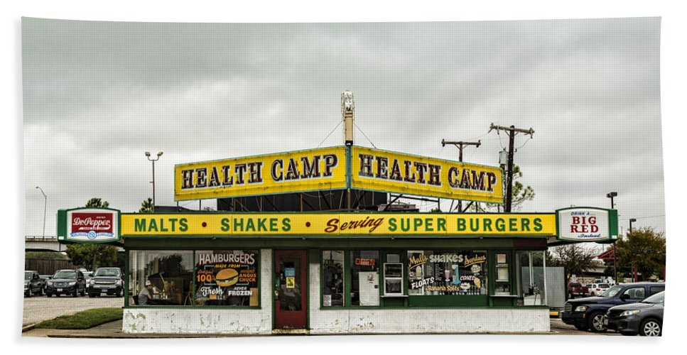 Health Camp Hand Towel featuring the photograph Health Camp by Stephen Stookey