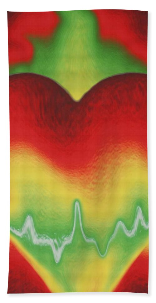 Heart Bath Towel featuring the photograph Heart Beat by Rob Hans