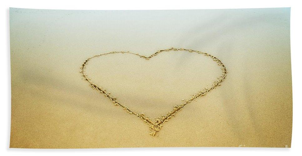 Beach Bath Sheet featuring the photograph Heart by John Greim