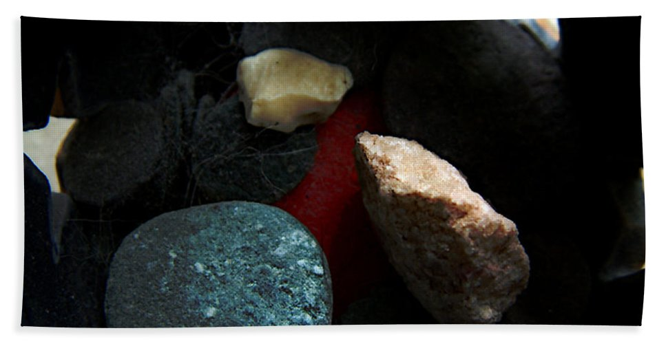 Rocks Hand Towel featuring the photograph Heart Of Stone by RC DeWinter