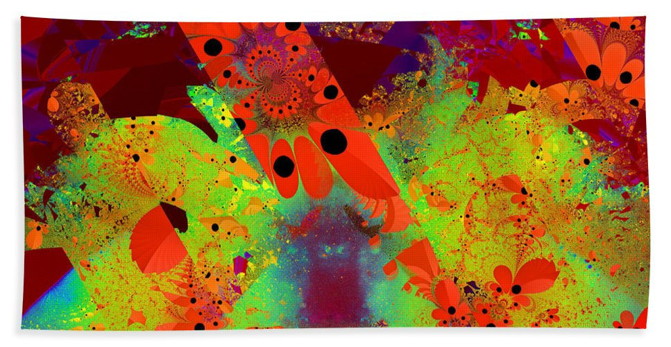 Abstract Hand Towel featuring the digital art Hearteness by Andrew Kotlinski