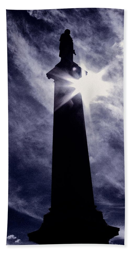 Cemetery Bath Towel featuring the photograph Heavenly Eclipse by Scott Wyatt