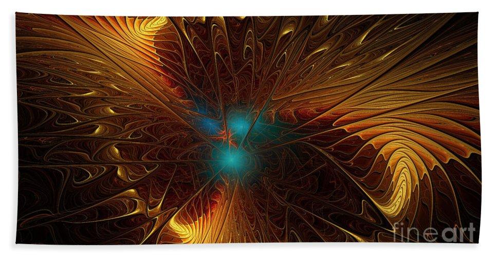 Fractal Bath Sheet featuring the digital art Heavenly Wings by Deborah Benoit