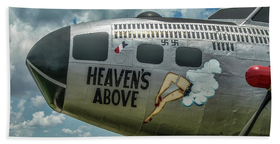 Boeing B-17 Flying Fortress Hand Towel featuring the photograph Heavens Above by Tommy Anderson