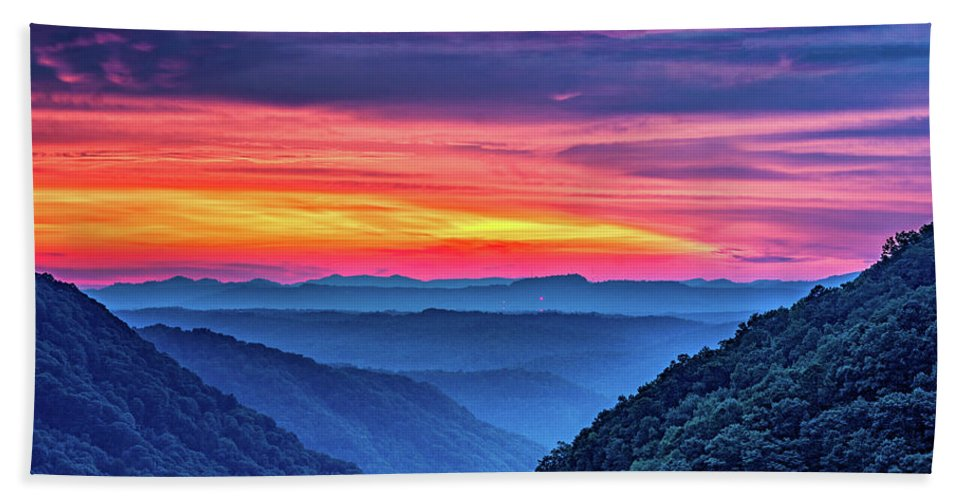 Babcock State Park Bath Sheet featuring the photograph Heaven's Gate - West Virginia 6 by Steve Harrington