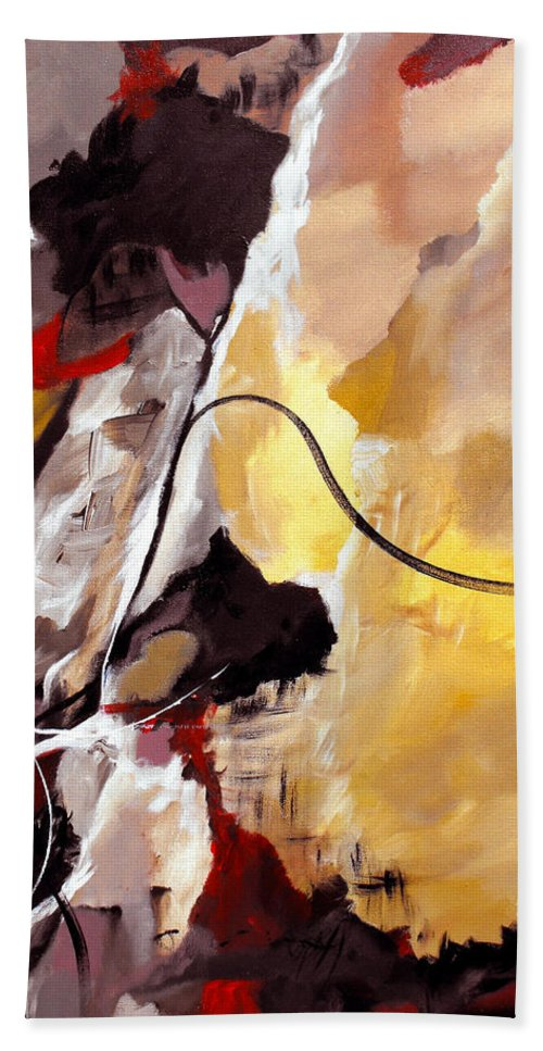 Abstract Hand Towel featuring the painting Held by Ruth Palmer