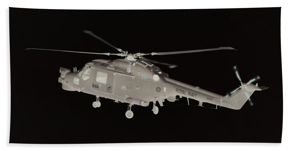 Helicopter Bath Sheet featuring the photograph Helicopter by James Hill