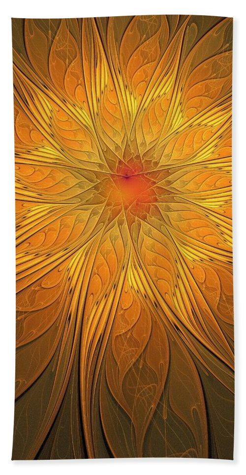 Digital Art Hand Towel featuring the digital art Helio by Amanda Moore