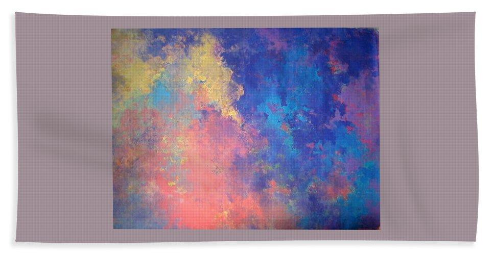 Bath Sheet featuring the painting Hello Dawn by Anne Lattimore