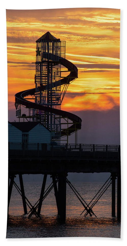 Herne Bay Bath Sheet featuring the photograph Helter Skelter by Paul Martin