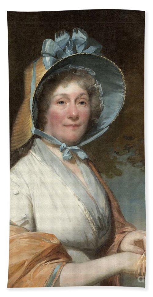 Hand Towel featuring the painting Henrietta Marchant Liston (mrs. Robert Liston) by Gilbert Stuart