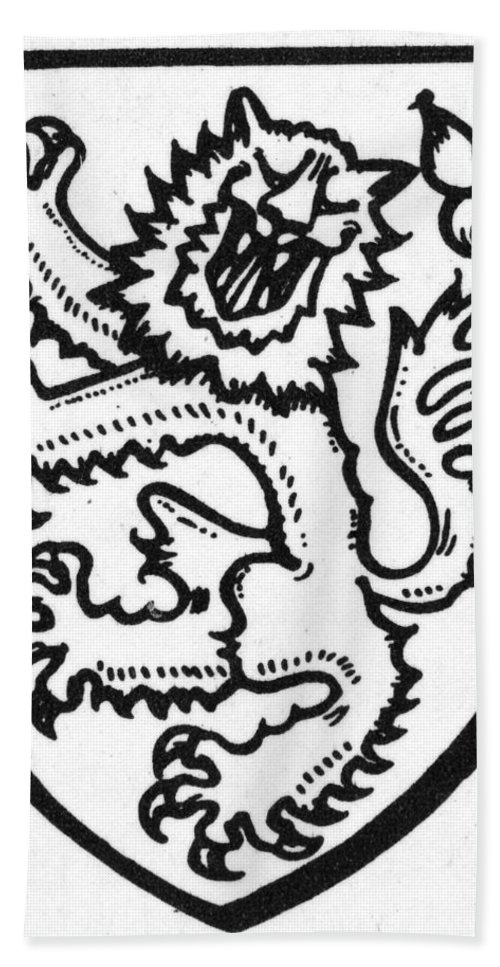 Beast Bath Sheet featuring the photograph Heraldry: Lion by Granger