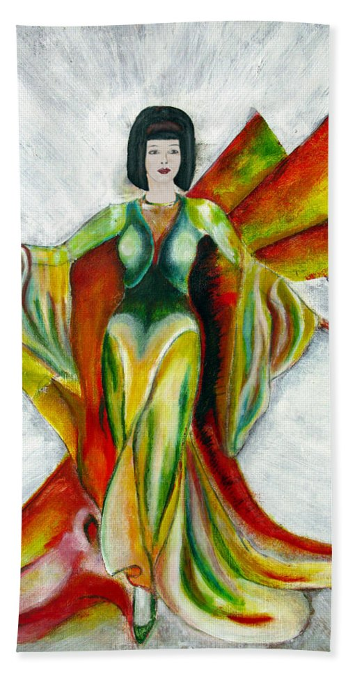 Dress Bath Towel featuring the painting Here Comes The Sun by Tom Conway