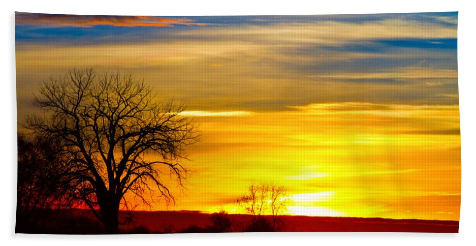 Sunrise Hand Towel featuring the photograph Here Comes The Sun by James BO Insogna