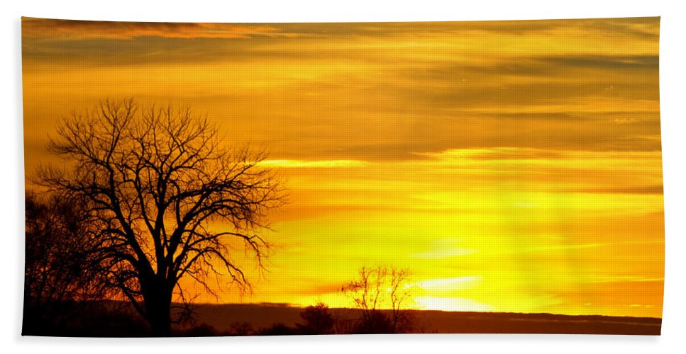canvas Print Hand Towel featuring the photograph Here Comes The Sunrise by James BO Insogna
