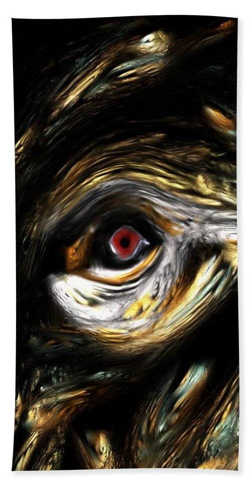 Abstract Digital Painting Bath Sheet featuring the digital art Here's Looking At You by David Lane