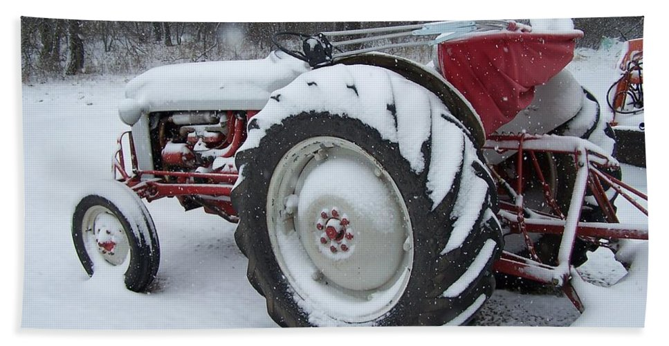 Tractor Hand Towel featuring the photograph Herman by Gale Cochran-Smith