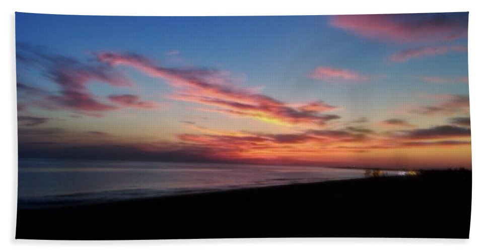 Sunset Hand Towel featuring the photograph Herring Cove Provincetown by Jai Cobino