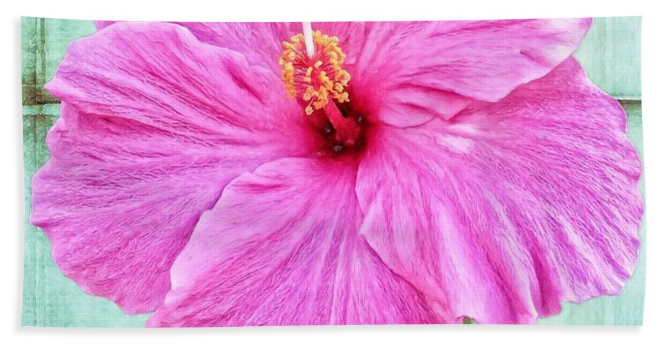 Alicegipsonphotographs Hand Towel featuring the photograph Hibiscus Squares by Alice Gipson