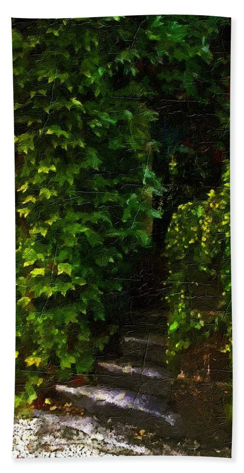 Cottage Bath Sheet featuring the painting Hidden Hermitage by RC DeWinter