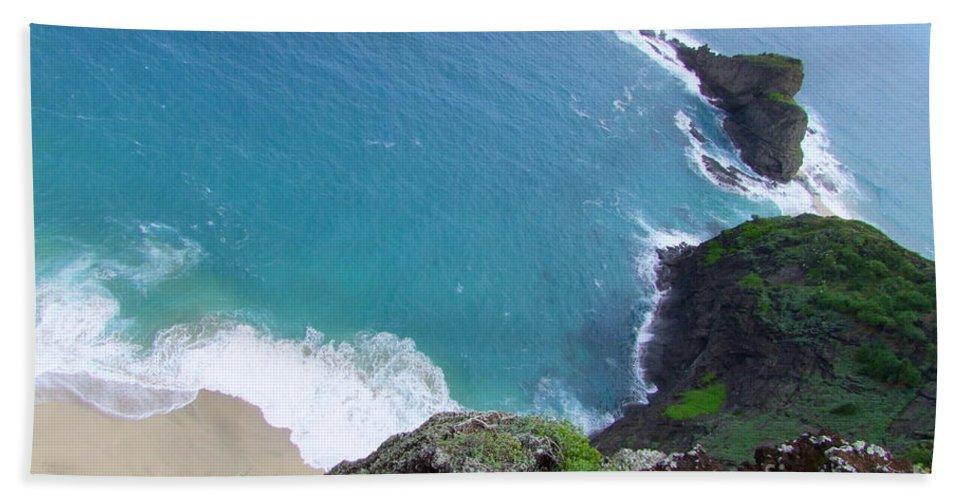 Blue Bath Towel featuring the photograph Hidden Kilauea Beach by Mary Deal