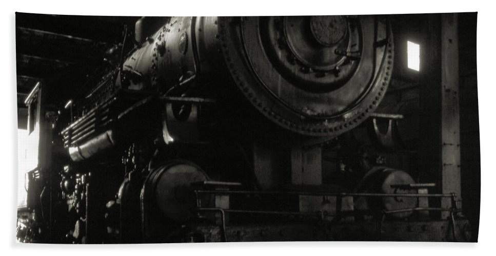 Railroads Bath Sheet featuring the photograph Hidden Legend by Richard Rizzo
