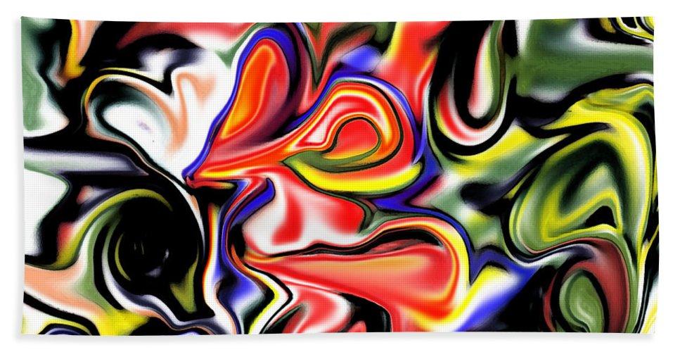 Flowers Bath Sheet featuring the digital art Hieary by Blind Ape Art