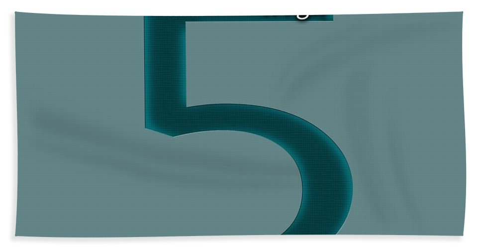 Typography Bath Sheet featuring the photograph High 5 by Bill Owen