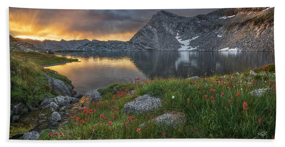 Idaho Scenics Hand Towel featuring the photograph High Mountain Morning In Idaho by Leland D Howard