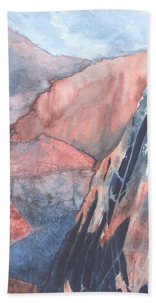 Landscape Bath Towel featuring the painting Higher Ground by Lynn Quinn