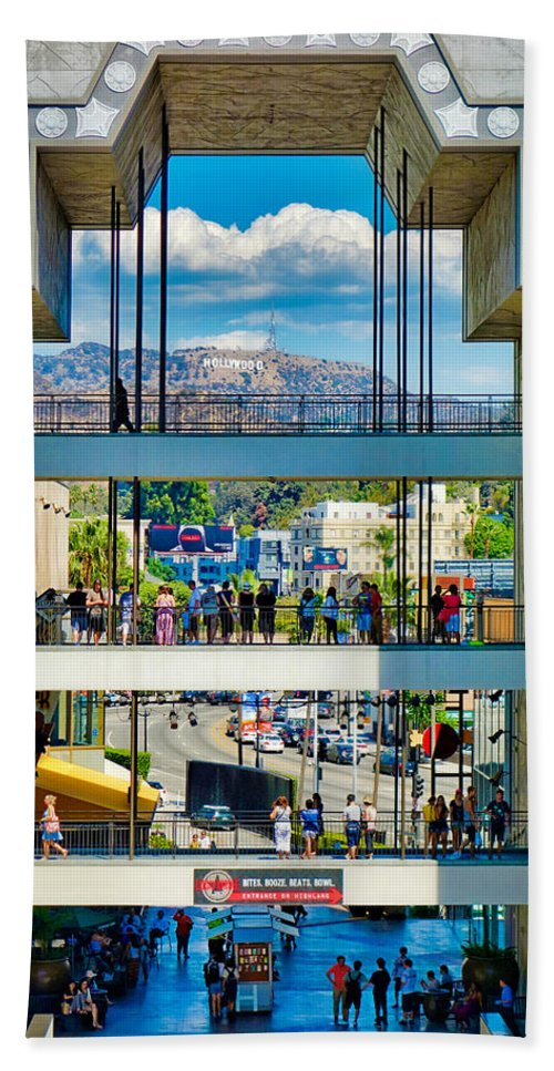 Highland Hand Towel featuring the photograph Highland And Hollywood C by Robert Meyers-Lussier