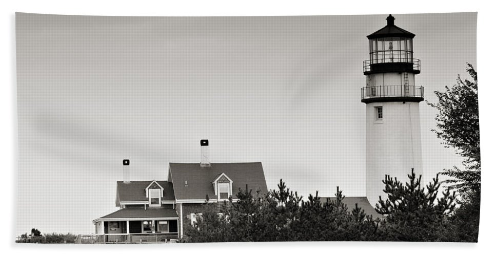 Lighthouse Bath Sheet featuring the photograph Highland Light At Cape Cod by Renee Hong